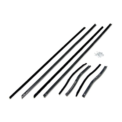 1965-66 Window Channel Strips, Quality Import (Fastback)