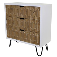 "28.25""H Bjorn Natural Origami 3-Drawer Chest"