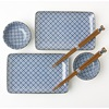 Blue & White Cross Sushi Set