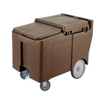 Cambro ICS125LB131 Brown SlidingLid Short Ice Caddy