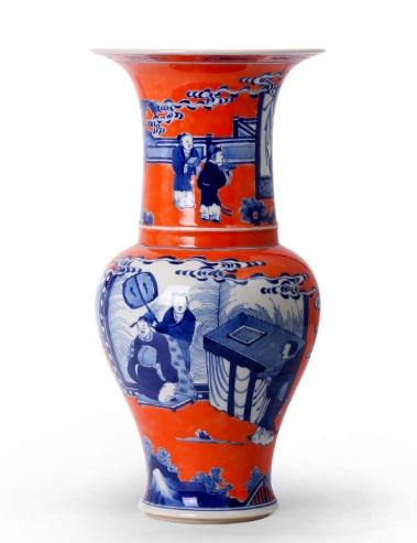 Joy Tribout Interior Design Blue And Orange Baluster Vase