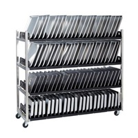 "Cook's 630-5430DT 54"" Wide Vented Tray Rack with Drip Tray"