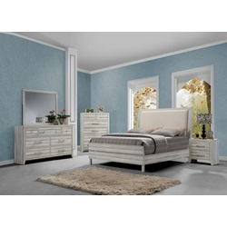 23980Q SHAYLA FABRIC QUEEN BED
