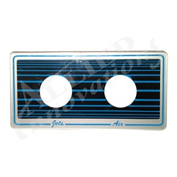 BUTTON DECKPLATE: 2 BUTTON AIR/JET BLUE/BLACK