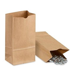2# GROCERY BAG, 4-5/16 X 2-7/16 X 7-7/8, DURO
