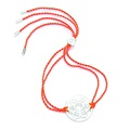 Daisy London Chakra Bracelet, Sacral, Silver with Orange Cord