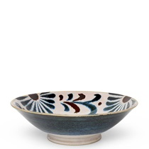 Rustic Blue Floral Serving Bowl