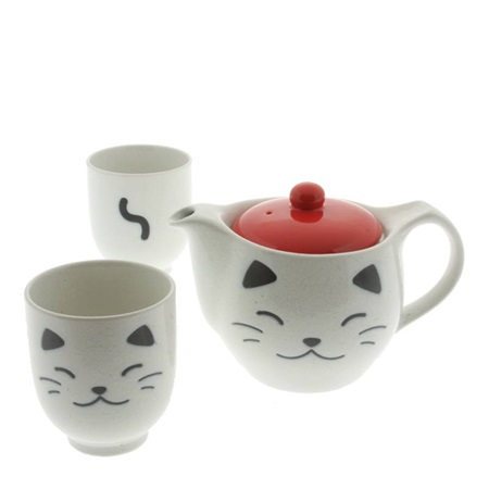 Tea Set Cat White
