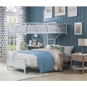 02081WH WHITE T/F BUNKBED