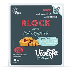 Just Like Provolone with Hot Peppers Vegan Cheese by Violife