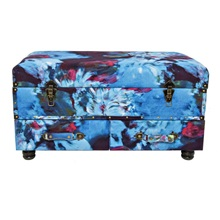 "17.25""H Abstract Watercolor Storage Trunk"