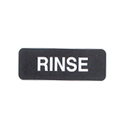 "Vollrath 4522 Rinse Sign 3"" X 9"""
