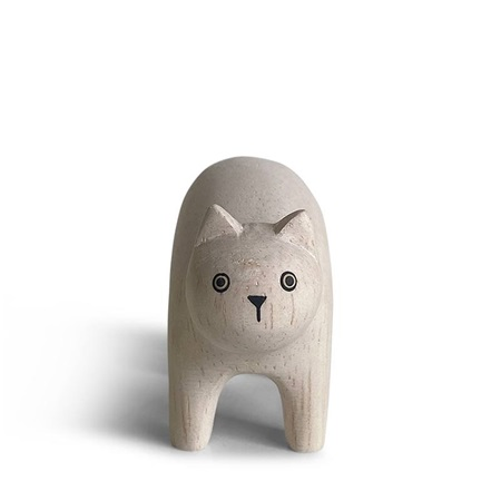 T-Lab Wooden Animal - Cat White