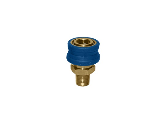 "MTM Hydro 3/8"" Insulated Male NPT Brass Quick Coupler"