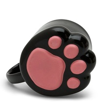 Cat Paw 9 Oz. Mug - Black