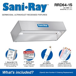 SaniRay RRD64-1S Included Accessories