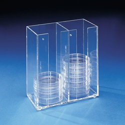 Acrylic Petri Dish Dispenser (Heathrow Scientific)