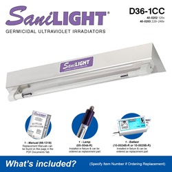SaniLIGHT D36-1CC Included Accessories