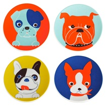 "Pop Art Dogs 3.5"" Mini Plate Set"