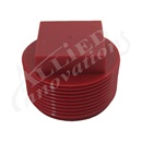 "PIPE PLUG: 1-1/2"" SQUARE RED WITHOUT O-RING"