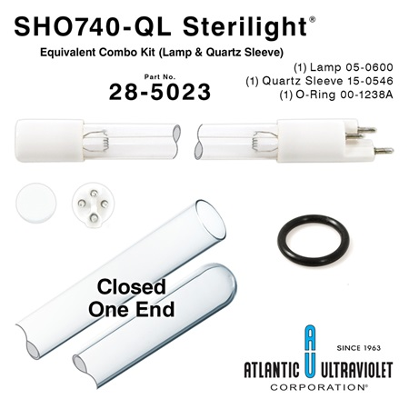 SHO740-QL Viqua / Sterilight Equivalent Replacement Combo Kit