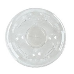 L24C 12-24 OZ CLEAR PLASTIC LID WITH STRAW SLOT FOR DART 12-24 OZ CUPS, 1000/CS