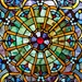 "22""H Stained Glass Webbed Heart Window Panel"