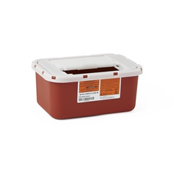 1 Gallon Red Container - Locking Flat Lid