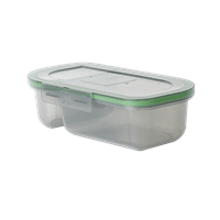 "MyGo™ Half-Sized Divided Compartment Container, 9-½ X 5"" X 2-½"""