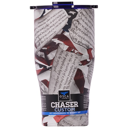 One Nation Scroll/Blue 27oz Chaser