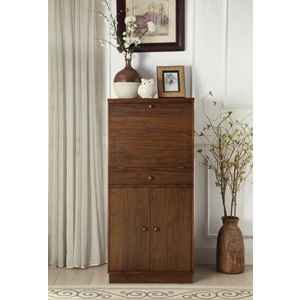 97543 WALNUT WINE CABINET
