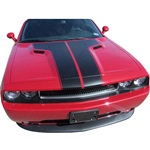 "2008-2010 Challenger Dual ""T"" hood stripes"