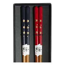 Blue & Red Sakura Chopsticks Boxed Set