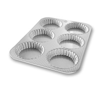 Mini Fluted Tart Pan - 6 Well
