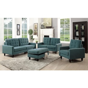 50247 TEAL FABRIC CHAIR