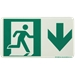 Running Man with Arrow Sign, Down