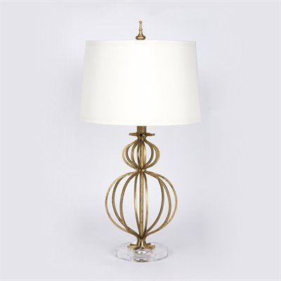 Rounded Gold Lamp