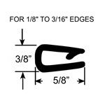 "1/8"" to 3/16"" Pinch Top Edge Trim Seal"