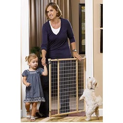GuardMaster II Tall/Wide Wire Mesh HD Gate, Hardware Mounted
