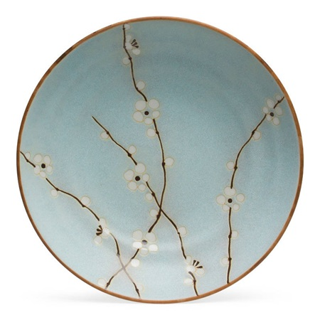 "Spring Blossoms 9"" Shallow Bowl"