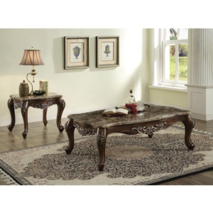 82145 COFFEE TABLE W/MARBLE TOP
