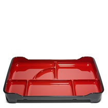 "LACQUERED LUNCH TRAY 14"" X 9.5"" - RED"