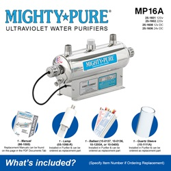 MIGHTY PURE® UV Water Purifiers 3–20 GPM - (Lamp / Quartz Sleeve Included)