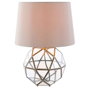 "16.5""H Metal and Glass Orb Table Lamp"