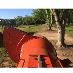 Rears Single Side Pecan Volute for Sprayers Close Up