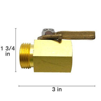Brass Valve With Locknut
