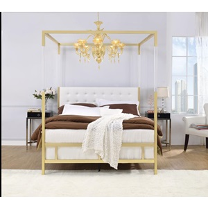 22680Q RAEGAN WHITE PU QUEEN BED