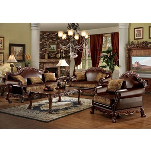 15162 CHENILLE/PU CHAIR W/PILLOW