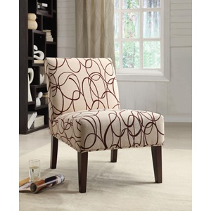59070 ACCENT CHAIR BEIGE/BROWN FAB.