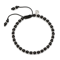 Lola Rose Notting Hill Bracelet, Black Agate with Silver